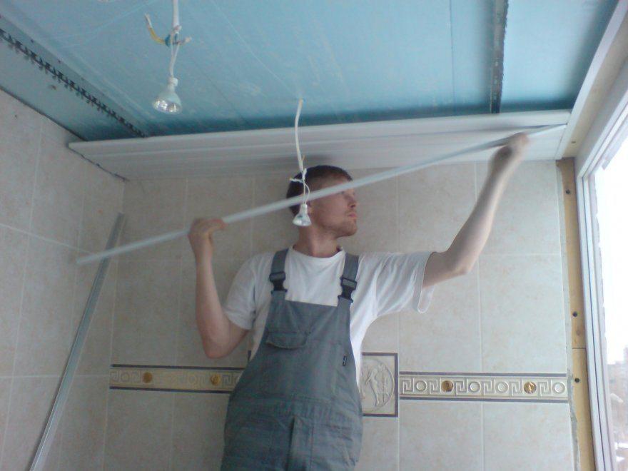 Как сделать потолки пвх панелями