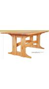Трапезный стол в стиле «искусства и ремесла»